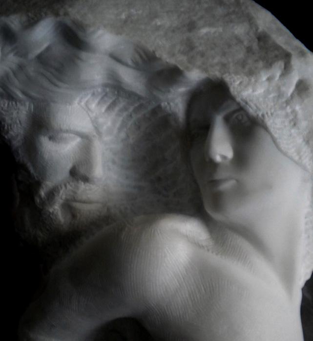 abbraccio III marmo statuario di carrara 2010  40x45x80 (18)