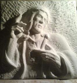 cristo  marmo bianco di carrara 2010   80x80x20 (1)