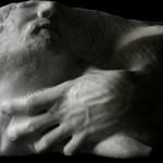 mano-volto marmo bianco di carrara 2010 45x25x25 (2)