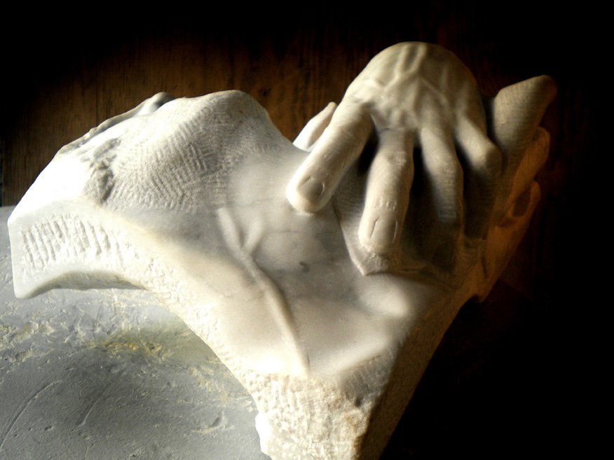 mano-volto marmo bianco di carrara 2010 45x25x25 (3)